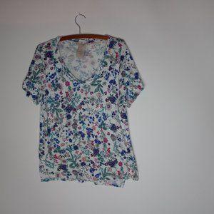 Philosophy Women's Floral Pima Cotton Shirt Large